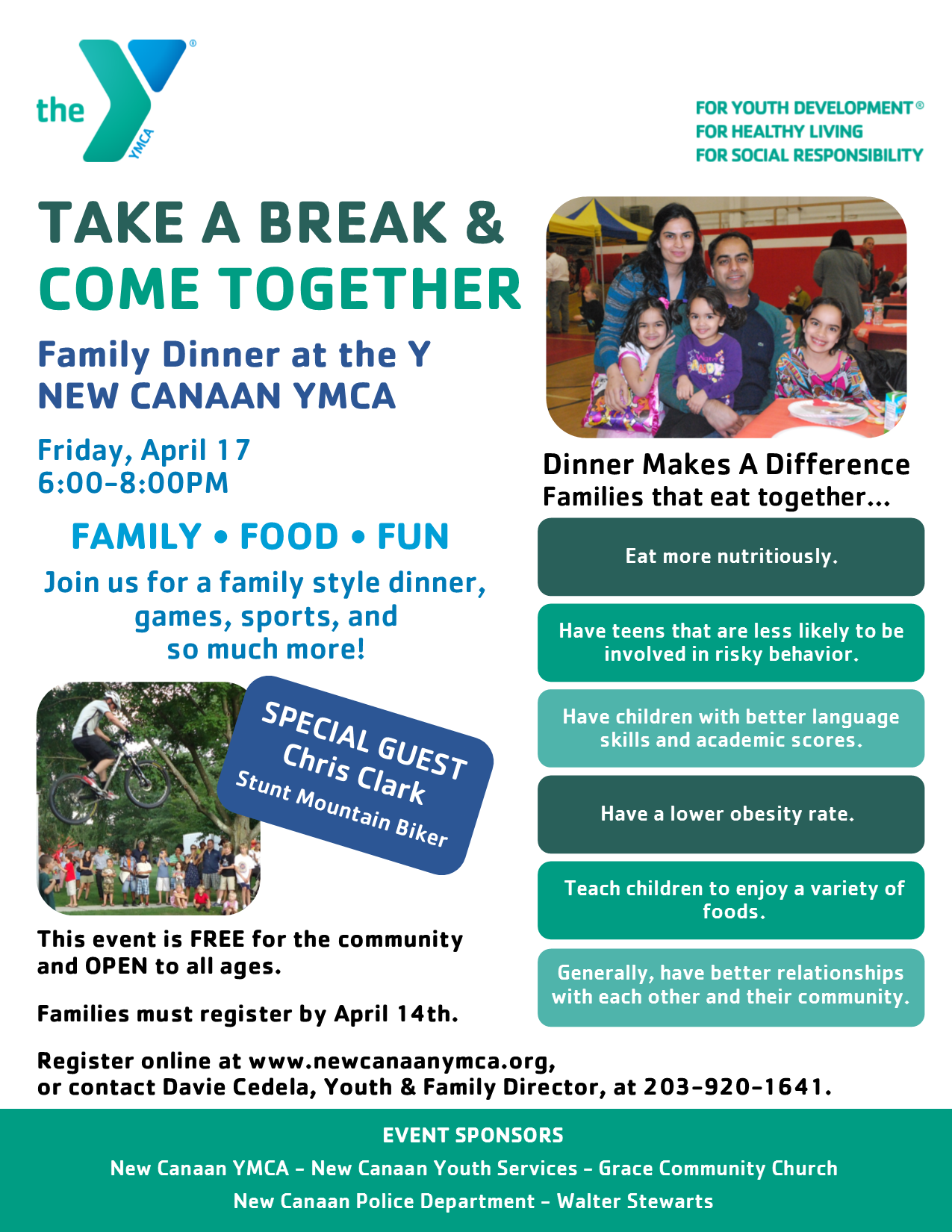 family dinner flyer 4 2015 new canaan ymca