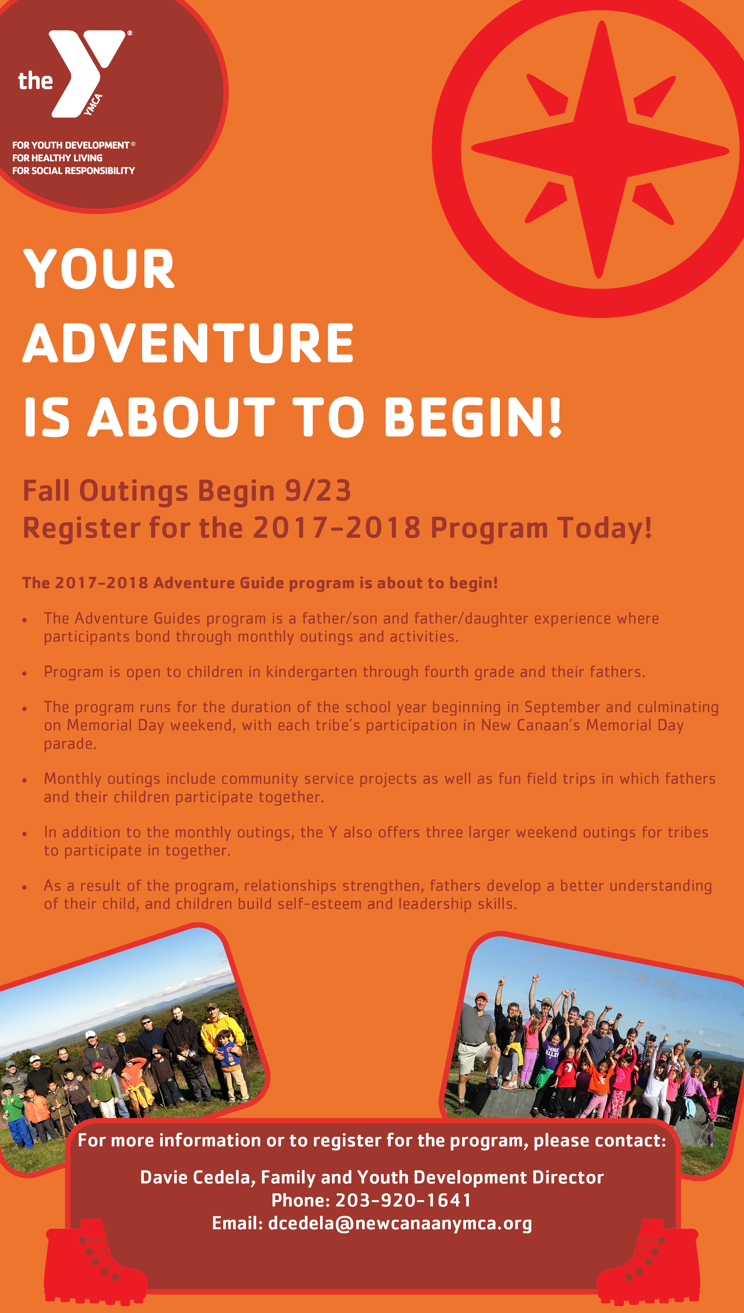 adventure guides informational flyer 2017 new canaan ymca