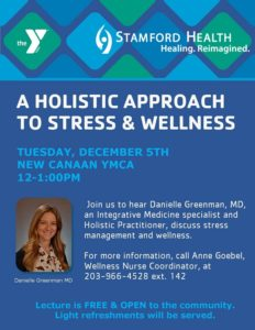 Lecture - A Holistic Approach to Stress & Wellness @ New Canaan YMCA, Wagner Room