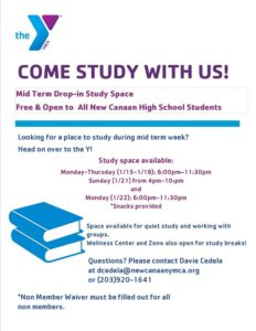 Come Study With Us! @ New Canaan YMCA