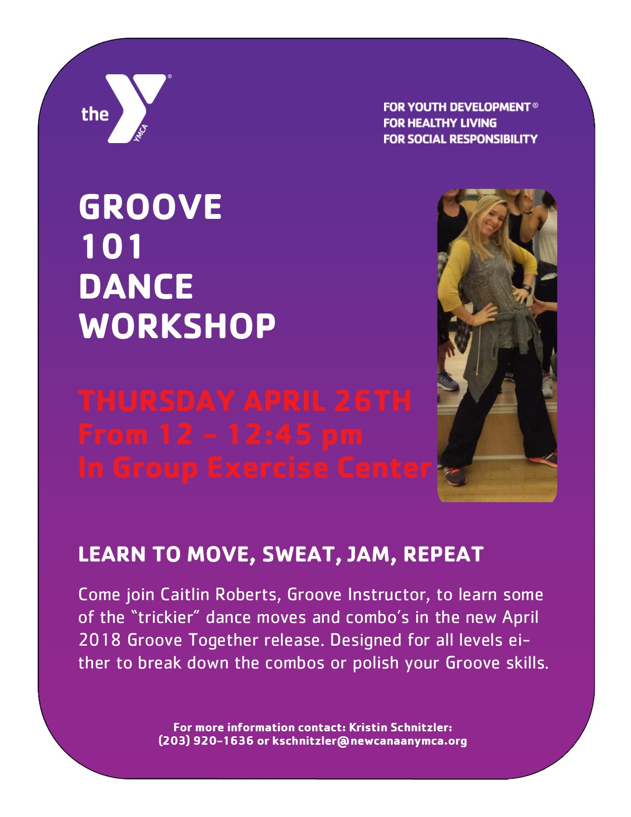 Groove 101 Dance Workshop @ Group Exercise Center