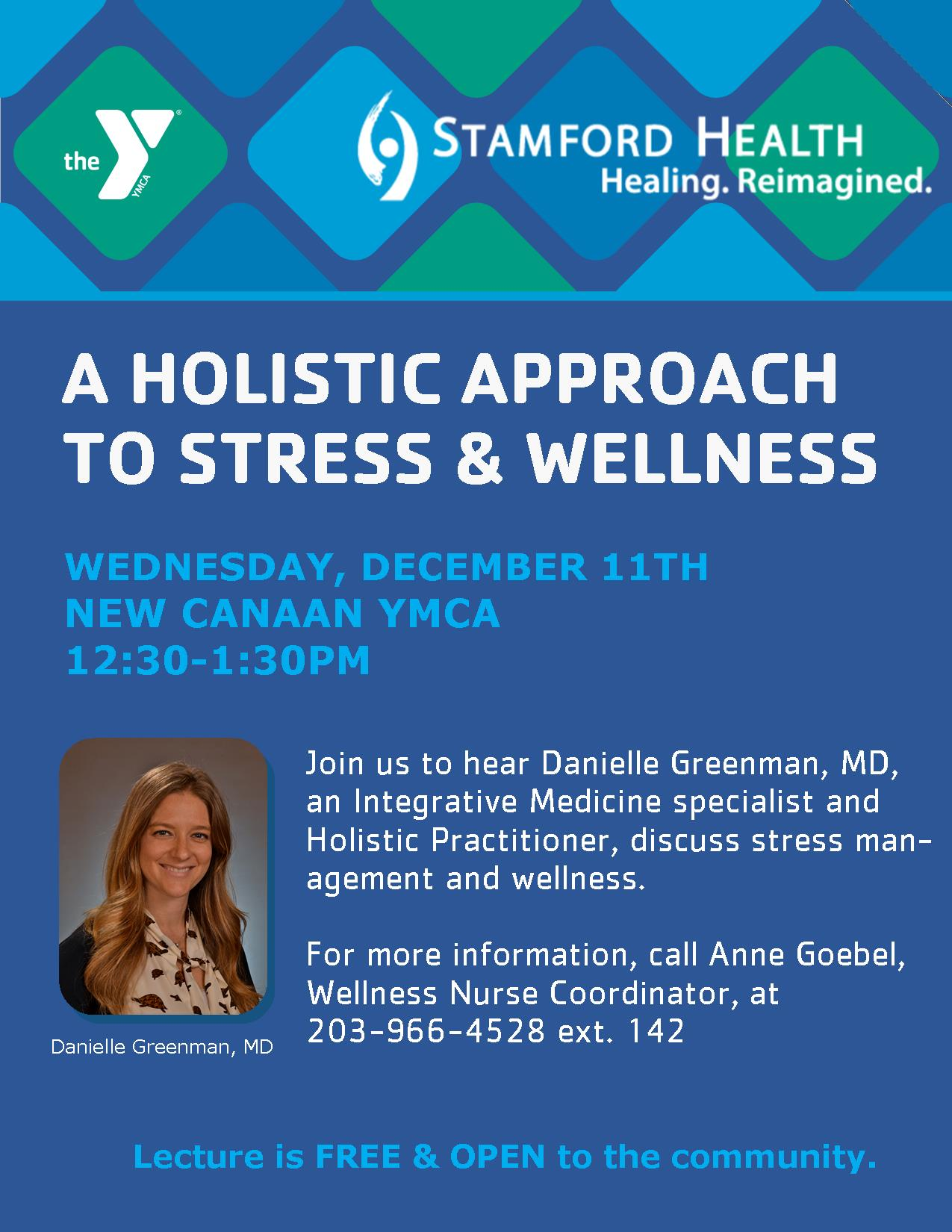 Stamford Health Lecture - A Holistic Approach to Stress & Wellness