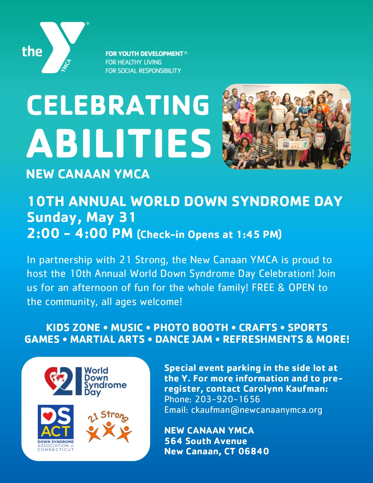 10th Annual World Down Syndrome Day @ New Canaan YMCA