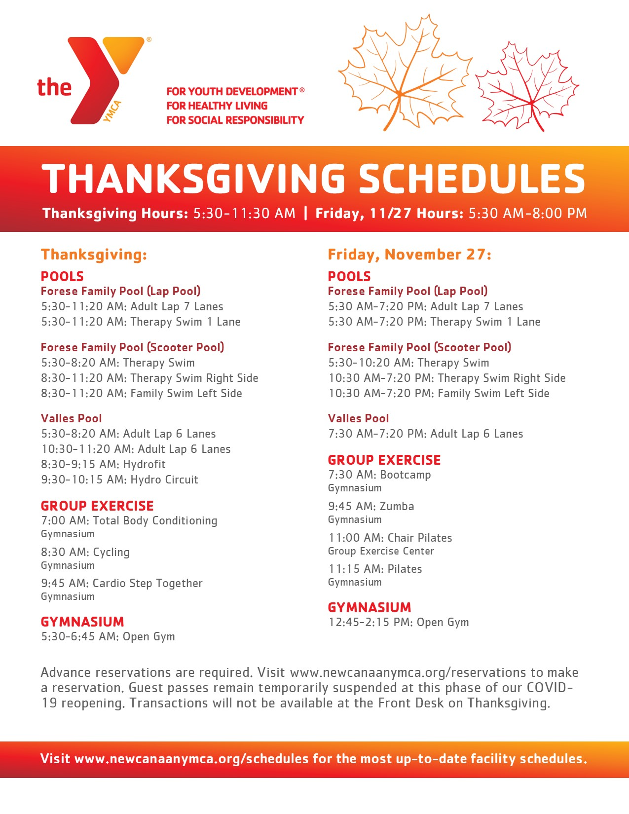 Friday after Thanksgiving-Hours & Schedules